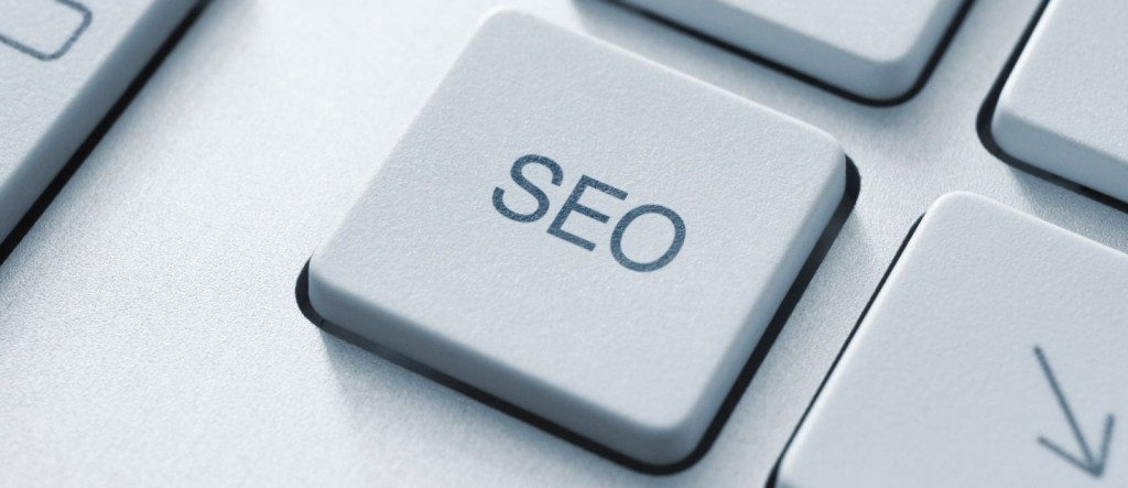 SEO button on the keyboard. Toned Image.